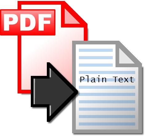 Convertir archivos pdf en txt