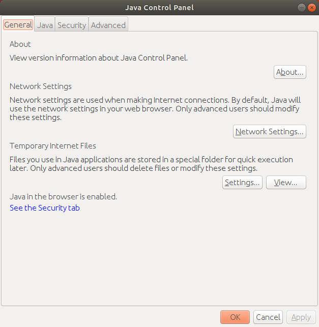 Como ejecutar el panel de control de Java desde Linux