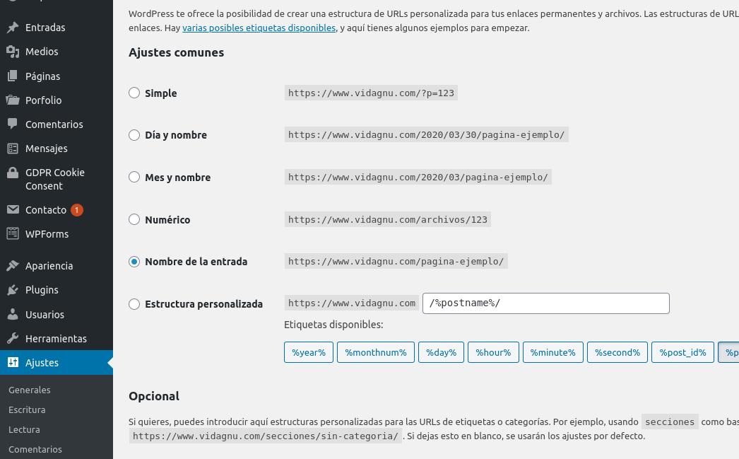Errores 404 en paginas de sitio WordPress
